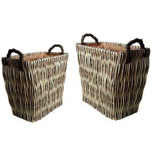 Mellowed Willow Log Baskets