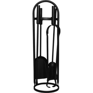 Modern Round Black Companion Set