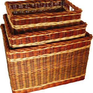 Oblong Log Baskets