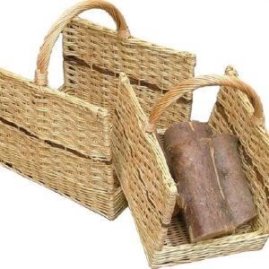 Open Ended Rectangular Log Basket