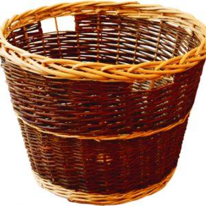 Round Rustic Log Basket