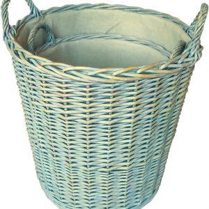 Tall Round Willow Log Basket