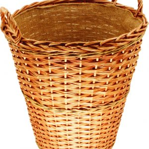 Willow Tall Log Basket with Lining